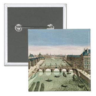 Vue de perspective de Paris du Pont royal Badges