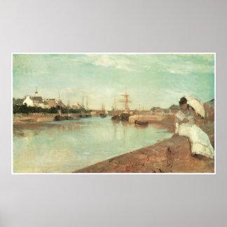 Vue de petit port de Lorient, Berthe Morisot Affiche