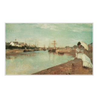 Vue de petit port de Lorient, Berthe Morisot Poster