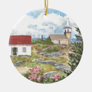 Vue de pièce d'île d'étoile une vue à l'île des ornement rond en céramique