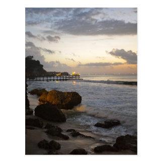 Vue de plage de Bali Carte Postale
