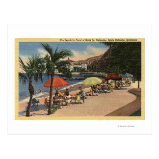 Vue de plage devant St Catherine d'hôtel Cartes Postales