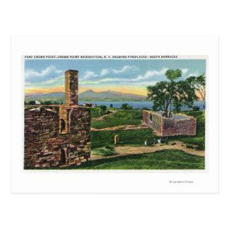 Vue de point de couronne de pi des casernes du sud carte postale