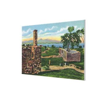 Vue de point de couronne de pi des casernes du sud toiles
