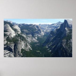 Vue de point de glacier en parc national de poster