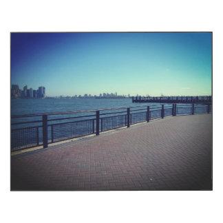 Vue de port de New York