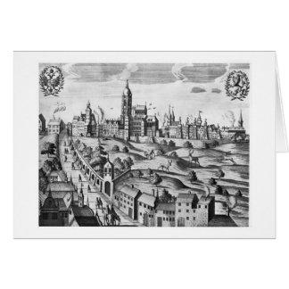 Vue de Prague montrant le palais impérial et Carte De Vœux