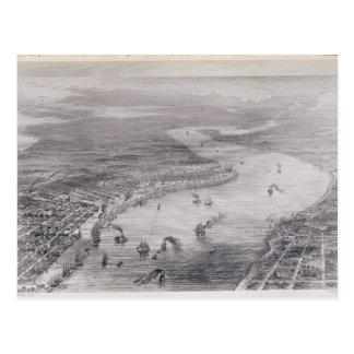 Vue de primevère farineuse de la Nouvelle-Orléans Carte Postale