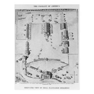 Vue de primevère farineuse des bâtiments idéaux de carte postale