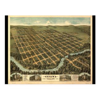 Vue de primevère farineuse d'Ottawa le Kansas Carte Postale