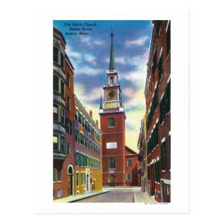 Vue de rue de Salem de vieux bâtiment du nord Cartes Postales