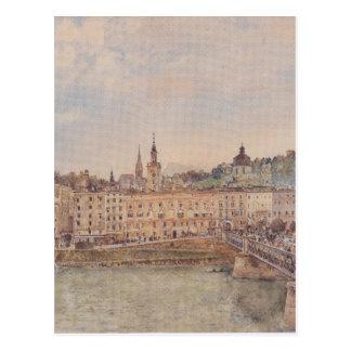 Vue de Salzbourg par Rudolf von Alt Cartes Postales