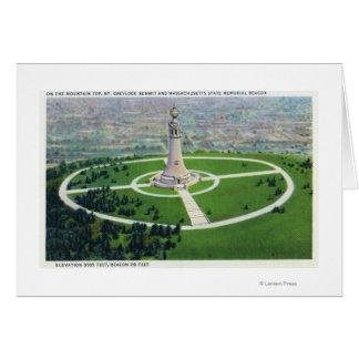 Vue de sommet de la balise de mémorial d'état de carte de vœux