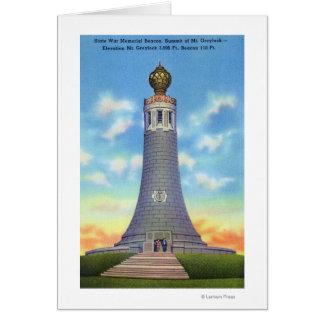 Vue de sommet de mémorial de guerre d'état carte de vœux