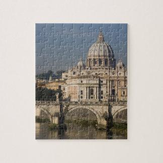 Vue de St Peter avec le sant Angelo de Ponte Puzzle