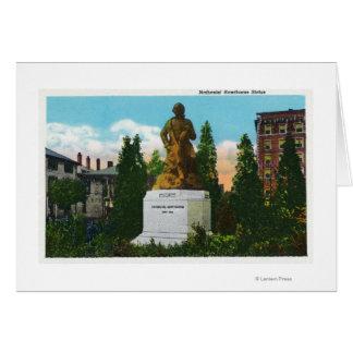 Vue de statue de Nathaniel Hawthorne Carte De Vœux