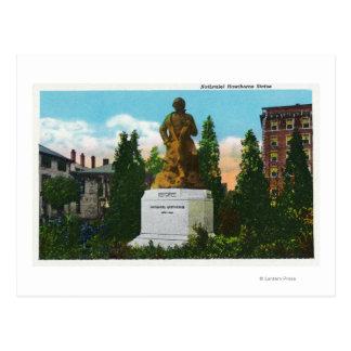 Vue de statue de Nathaniel Hawthorne Carte Postale