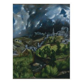 Vue de Toledo par El Greco Cartes Postales