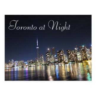 Vue de Toronto la nuit Carte Postale