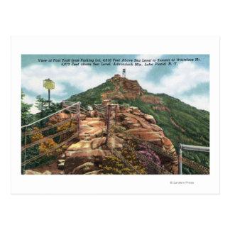 Vue de traînée de pied au sommet carte postale