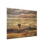Vue de Van Gogh de mer à Scheveningen, beaux-arts Toile Tendue Sur Châssis