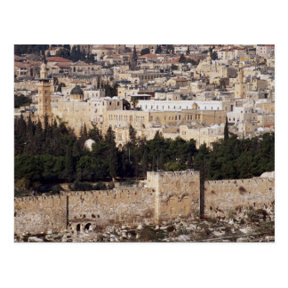 Vue de vieille ville du mont des Oliviers, Jerusal Carte Postale