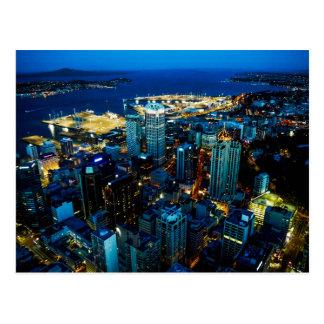 Vue de ville d'Auckland de la tour de ciel - carte