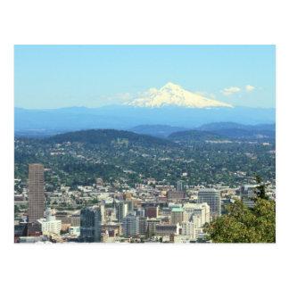 Vue de ville de Portland, Orégon, arrière - plan Carte Postale