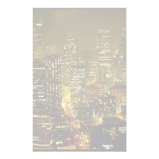 Vue de ville de Seattle Papier À Lettre Personnalisable