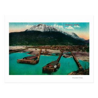 Vue de ville de Skagway, AlaskaSkagway, AK Carte Postale