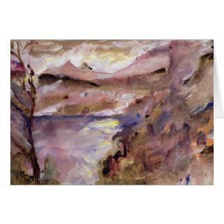 Vue de Walchen Lake, 1919 Carte De Vœux
