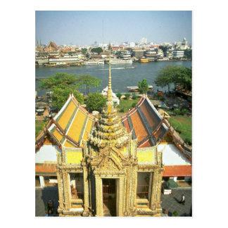 Vue de Wat Arun au-dessus du fleuve Chao Phraya, Carte Postale