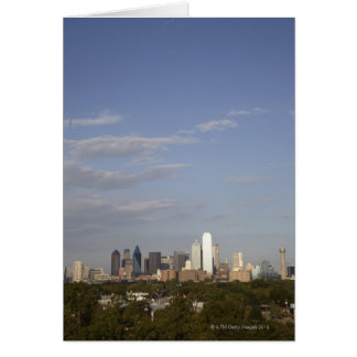 Vue de Westside de l'horizon de Dallas Carte De Vœux