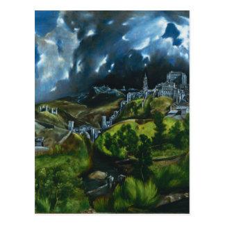 Vue d'El Greco de carte postale de Toledo