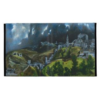 Vue d'El Greco de cas de l'iPad 3 de Toledo Étui iPad Folio