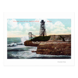 Vue d'entraînement de falaise du moteur de vague carte postale