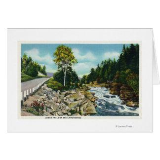 Vue des automnes inférieurs de la rivière carte de vœux