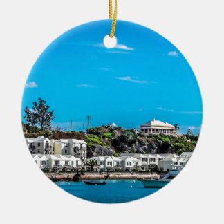 Vue des Bermudes Ornement Rond En Céramique