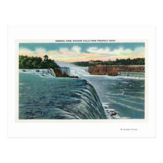Vue des chutes du Niagara du point de perspective Carte Postale