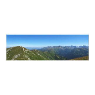 Vue des crêtes rouges à haut Tatras Toile