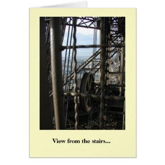 Vue des escaliers carte de vœux