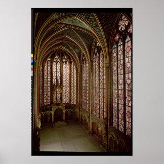 Vue des fenêtres en verre teinté poster