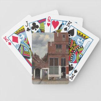 Vue des maisons à Delft la petite rue Jeux De Poker