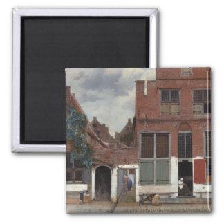 Vue des maisons à Delft la petite rue Magnet Carré