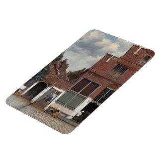 Vue des maisons à Delft la petite rue Magnets Rectangulaire
