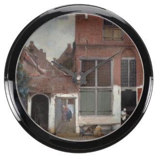 Vue des maisons à Delft par Johannes Vermeer Aqua Clocks