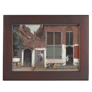 Vue des maisons à Delft par Johannes Vermeer Boîtes À Souvenirs
