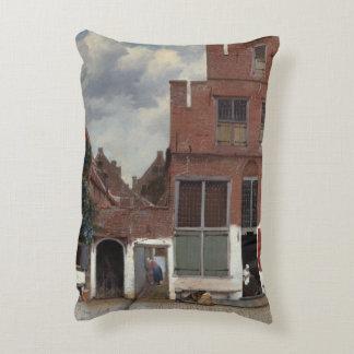 Vue des maisons à Delft par Johannes Vermeer Coussin Déco
