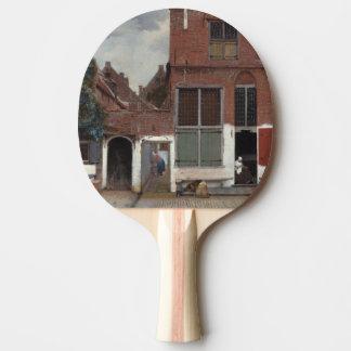 Vue des maisons à Delft par Johannes Vermeer Raquette De Ping Pong