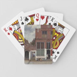 Vue des maisons à Delft par Johannes Vermeer Jeux De Cartes